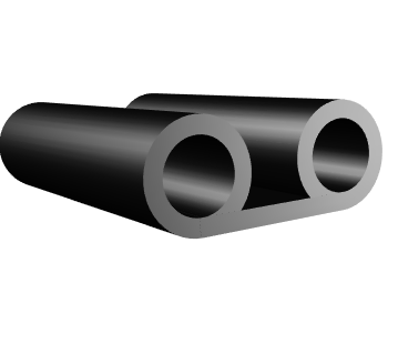 Double Bulb Silicone Rubber Seals